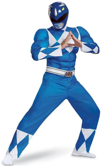 MIGHTY MORPHIN POWER RANGERS BLUE RANGER COSTUME