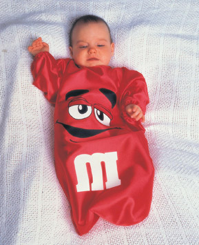 M & MS BABY RED