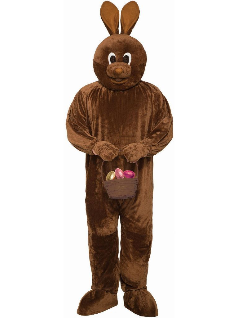 CHOCOLATE EASTER BUNNY COSTUME FOR ADULTS