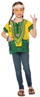 GREEN HIPPIE DASHIKI SHIRT FOR KIDS