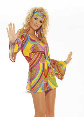 Women Sexy 50 60 70 80 Crazy Costumes La Hippie