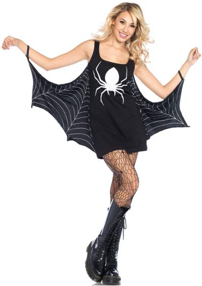 SEXY JERSEY SPIDERWEB DRESS COSTUME FOR WOMEN