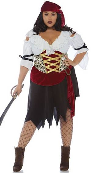 SEXY HIGH SEAS PIRATE WENCH COSTUME FOR WOMEN