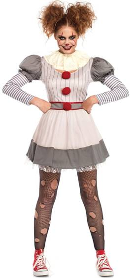 SEXY CREEPY CLOWN COSTUME FOR WOMEN