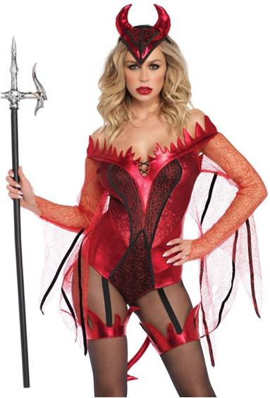 SEXY DAZZLING DEVIL COSTUME FOR WOMEN