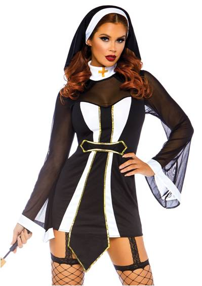 SEXY TWISTED SISTER NUN COSTUME FOR WOMEN