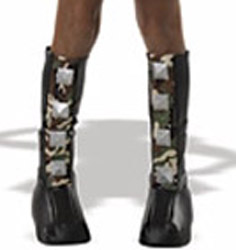 SPIKED CAMOUFLAGED BOOT TOPS