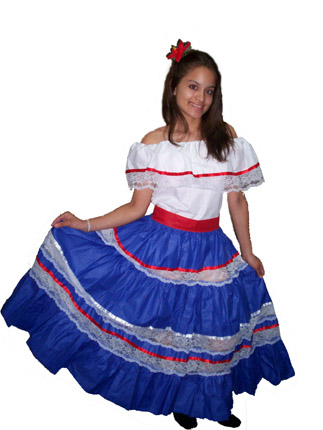 Puerto Rico Traditional Clothing Puerto rican red regional