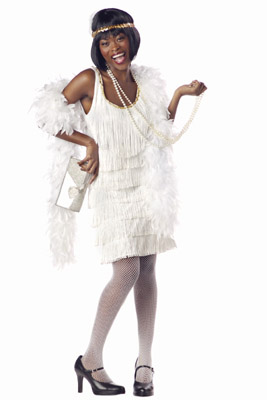 FASHION WHITE FLAPPER