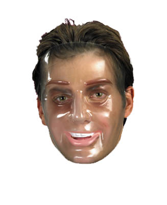 TRANSPARENT YOUNG MAN FACE MASK