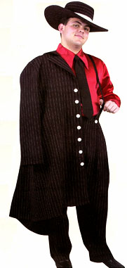 ZOOT SUIT LONG BLACK/RED