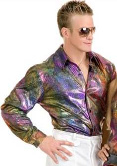 DISCO SHIRT WITH GLITTER HOLOGRAM