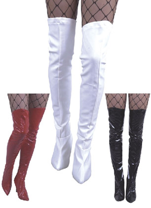 VINYL THIGH HIGH BOOT COVERS Click for larger image  sc 1 st  Crazy For Costumes/La Casa De Los Trucos (305) 858-5029 - Miami ... : costume boot tops  - Germanpascual.Com