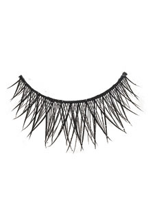 BLACK CROSS LASHES WITH GLITTER