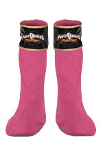 PINK POWER RANGER SHOE COVERS