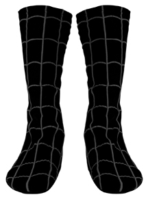 BLACK SUITED SPIDERMAN ADULT SHOE COVERS