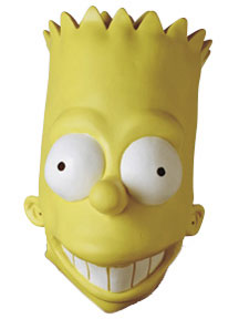 BART SIMPSON ADULT VINYL OVERSIZED MASK