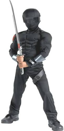 G.I. JOE SNAKE EYES DELUXE MUSCLE COSTUME