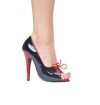 5 INCH BLACK / RED STILETTO