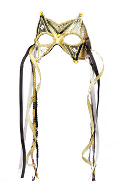 BLACK & GOLD FACE MASK
