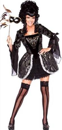 ^PLAYBOY LICENSED MADAME MASQUERADE size s,m,l