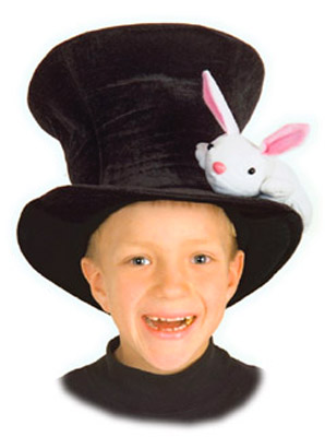 MAGICIAN HAT WITH BUNNY