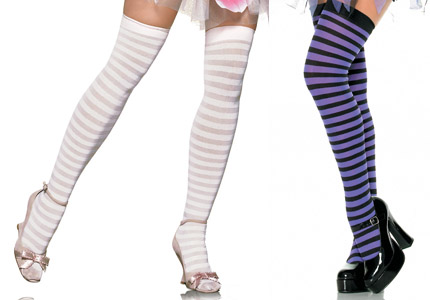 NYLON STRIPED STOCKINGS