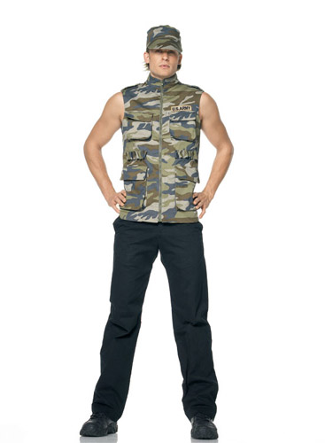 ARMY SERGEANT HAT AND VEST