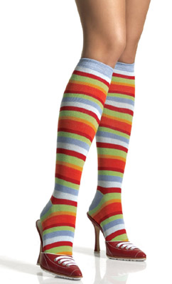 MULTICOLORED KNEE HIGHS