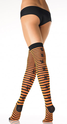 ***SOLD OUT*** BLACK/ORANGE SPIDER STOCKINGS