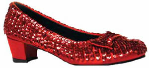 CHILD RED SEQUINED SHOES