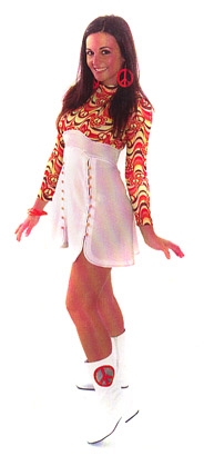 PSYCHEDELIC 60'S GO-GO DRESS