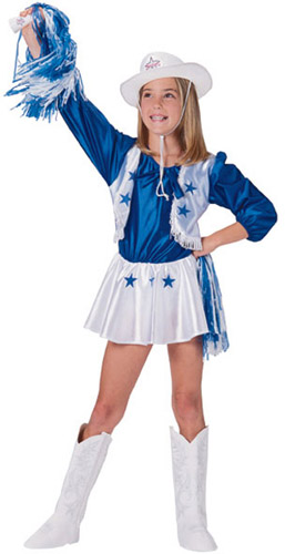 DALLAS COWGIRL CHEERLEADER COSTUME FOR GIRLS *SZ S