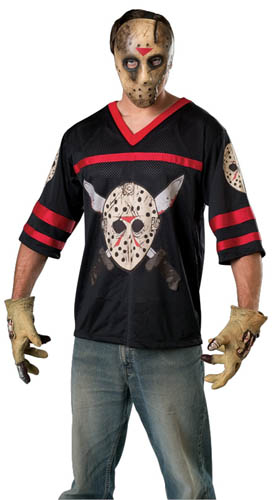 TEEN JASON HOCKEY JERSEY AND MASK