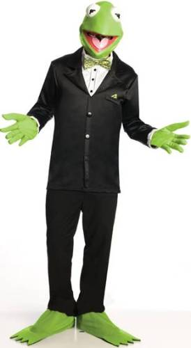 THE MUPPETS KERMIT THE FROG COSTUME FOR MEN