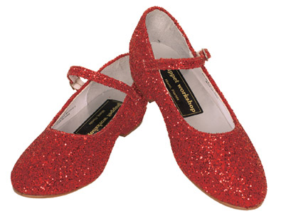 RUBY RED GLITTER SHOES