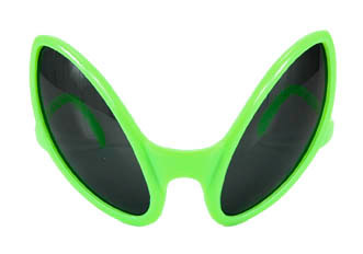 GREEN MARTIAN GLASSES