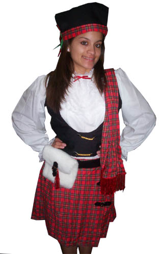 Sexy scottish costumes, high heels hairy pussy