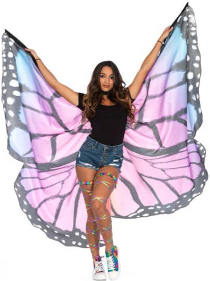 MONARCH BUTTERFLY WINGS CAPE FOR WOMEN