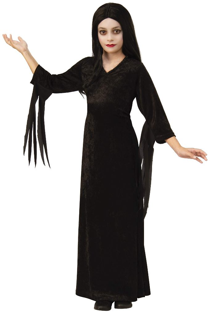 ADDAMS FAMILY MORTICIA ADDAMS COSTUME FOR GIRLS
