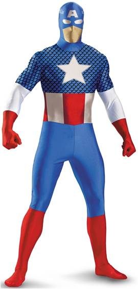 CAPTAIN AMERICA SKIN SUIT