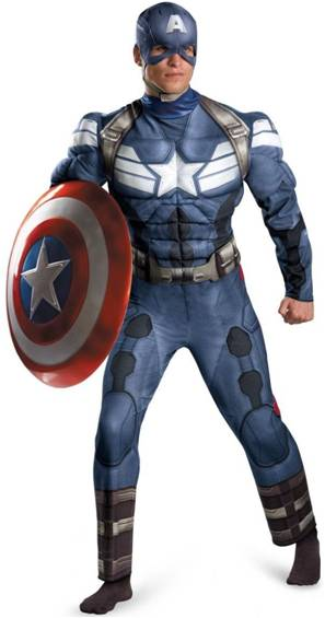 CAPTAIN AMERICA WITH MUSCLE TORSO