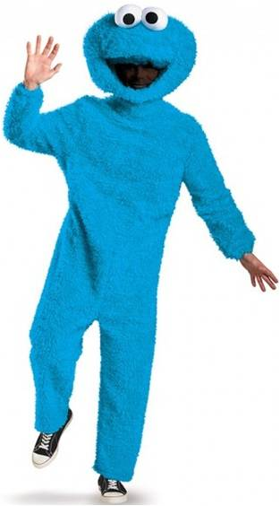 COOKIE MONSTER MASCOT SESAME STREET ADULT COSTUME