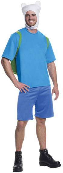 ADVENTURE TIME DELUXE FINN COSTUME FOR MEN