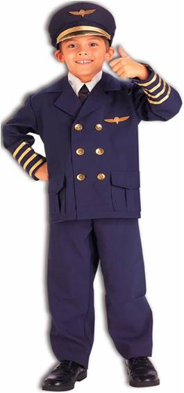 AIRLINE PILOT COSTUME FOR BOYS OR GIRLS