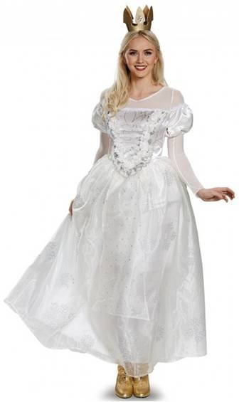 ALICE THRU THE LOOKING GLASS WHITE QUEEN COSTUME