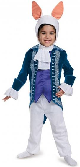 ALICE IN WONDERLAND WHITE RABBIT COSTUME FOR BOYS