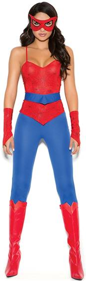 SEXY SPIDER HERO GIRL COSTUME FOR WOMEN