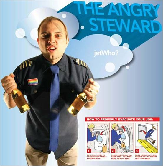 ANGRY STEWARD COSTUME FOR MEN