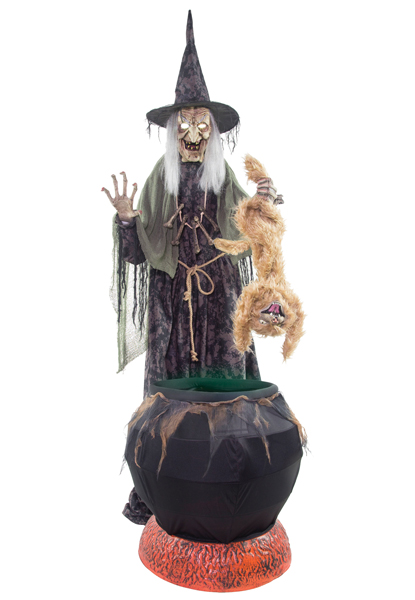 ANIMATED CAT-TASTROPHE WITCH PROP
